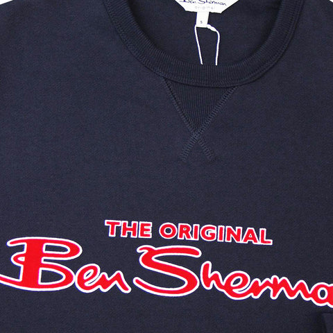 BEN SHERMAN LOGO SWEAT - NAVY