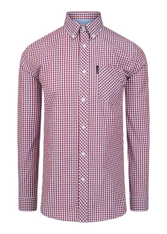 ben sherman gingham overhemd shirt red