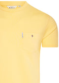 ben sherman pocket tee lemon