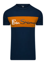 SPORTS CUT AND SEW BRANDED T-SHIRT - DARK NAVY
