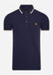 Tipped polo - navy white