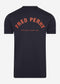 fred perry printed t-shirt back print