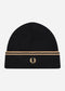 Twin tipped merino wool beanie - black champ