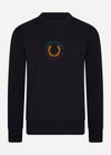 Global branded sweatshirt - navy