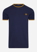 fred perry t-shirt carbon blue