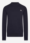 fred perry crewneck sweater navy