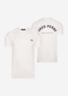 fred perry t-shirt wit back print white