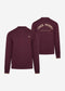Fred Perry embroidered sweat - mahogany