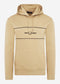 Panel hooded sweatshirt - warm stone