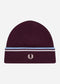 Twin tipped merino wool beanie - rich mah