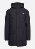 fred perry parka zwart winterjas