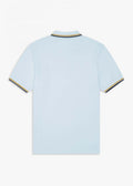 fred perry polo light blue chalk gold
