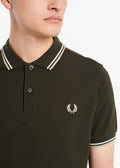 Twin tipped aw polo - hunting green