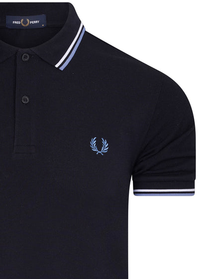 TWIN TIPPED POLO - NAVY RIVIERA
