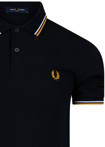 fred perry polo zwart black