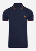 fred perry slim fit polo deep carb
