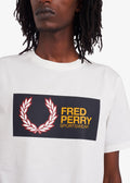 fred perry sportswear t-shirt wit