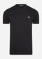 fred perry t-shirt back print logo black