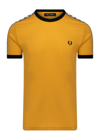 fred perry taped gold t-shirt