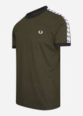 fred perry t-shirt taped ringer hunting green