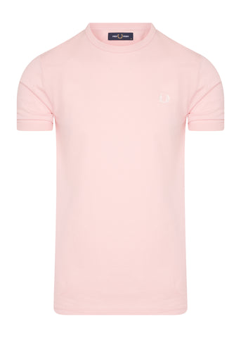 fred perry basic t-shirt pink roze
