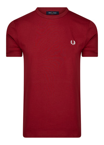 fred perry t-shirt rood rosso