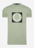 fred perry t-shirt seagrass