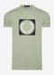 Laurel wreath graphic t-shirt - seagrass