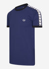 fred perry taped ringer t-shirt french navy