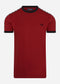 Taped ringer aw t-shirt - deep red