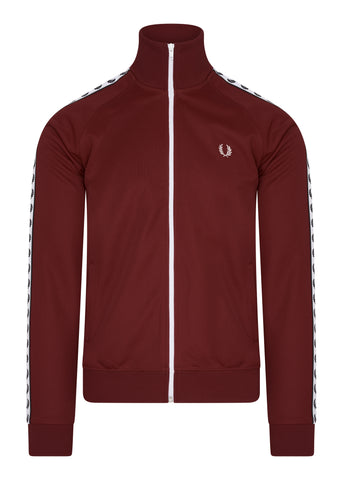 fred perry taped track jacket rosso red