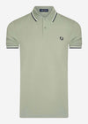 fred perry twin tippd polo seagrass