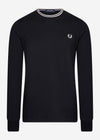 fred perry twin tipped t-shirt black zwart