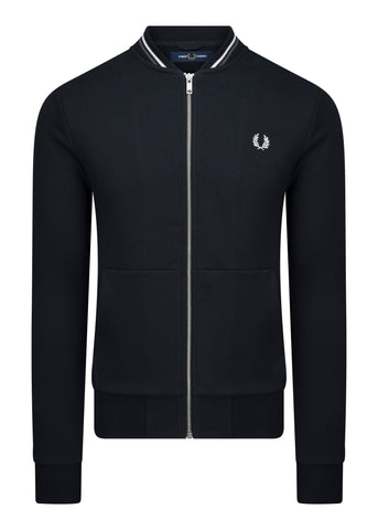 ZIP THROUGH SWEATSHIRT - BLACK