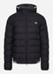 Hooded insulated jacket - black