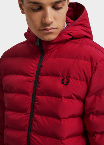 gewatteeerde winterjas fred perry