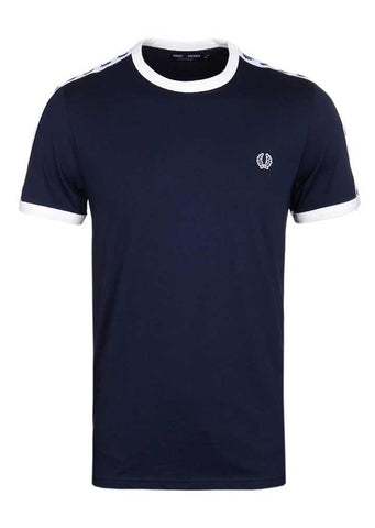 Fredy Perry -  NAVY TAPED RINGER SHORT SLEEVE T-SHIRT