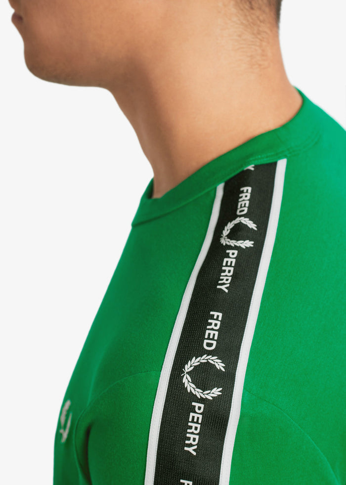 TAPED SHOULDER T-SHIIRT - ELECTRIC GREEN