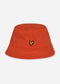 Cotton twill bucket hat - burnt orange
