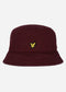 Cotton twill bucket hat - merlot