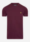 Crew Neck T-Shirt - burgundy