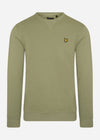 lyle and scott crewneck sweater moss
