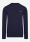 lyle and scott crewneck sweater navy