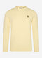 Merino crew jumper - lemon