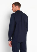 lyle and scott overhemd navy blauw