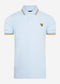 Tipped polo - pastel blue / stand storm
