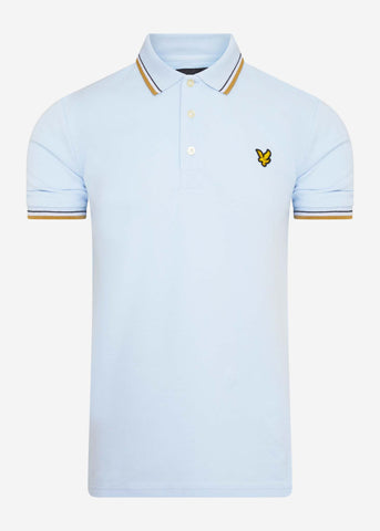 lyle and scott polo pastel blue