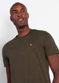 lyle and scott t-shirt trek green