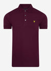 lyle and scott polo burgundy