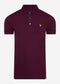 Slim stretch polo - burgundy